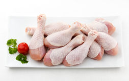 Fresh raw chicken drumsticks Royalty Free Stock Photography