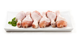 Fresh raw chicken drumsticks Royalty Free Stock Images