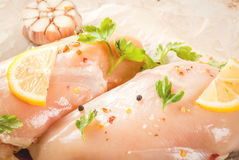 Fresh raw chicken fillet, breast Stock Image
