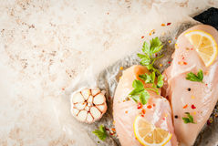 Fresh raw chicken fillet, breast Stock Photo