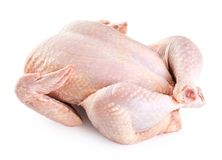 Fresh raw chicken. Isolated on white background Royalty Free Stock Images