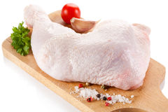 Fresh raw chicken leg Stock Photography