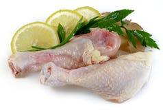 Fresh raw chicken legs. On White Background Royalty Free Stock Photos