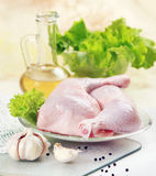 Fresh raw chicken legs. And vegetables Royalty Free Stock Photo