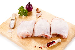 Fresh raw chicken legs Royalty Free Stock Images