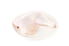 Fresh raw chicken legs isolated on white background Royalty Free Stock Image