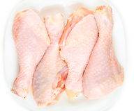 Fresh raw chicken legs. On a white background Stock Photo