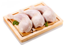 Fresh raw chicken legs Stock Photos