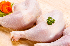 Fresh raw chicken legs Royalty Free Stock Photos
