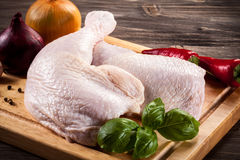 Fresh raw chicken legs Stock Photo