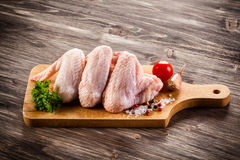 Fresh raw chicken lwings Stock Images