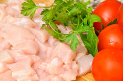 Fresh raw chicken. Meat ready to cook Stock Photo