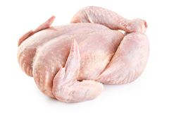 Fresh raw chicken  on white background. With clipping path Stock Photography