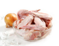 Fresh raw chicken wings. In a bowl Stock Images