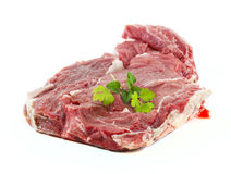 Fresh raw cow. Meat isolated in white Stock Photography