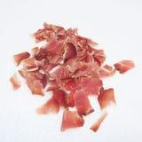 Fresh raw cut homemade smoked pork ham,. Fresh raw cut homemade smoked pork Royalty Free Stock Image