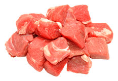 Fresh Raw Diced Beef Royalty Free Stock Photo