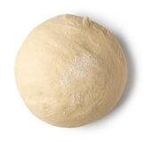 Fresh raw dough. Ball isolated on white background, top view Stock Photography