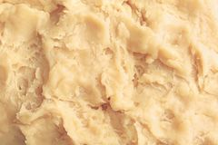 Fresh raw dough. As background Stock Photo