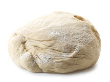 Fresh raw dough. For pizza or bread baking isolated on white background Royalty Free Stock Image