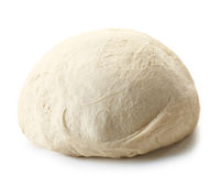 Fresh raw dough. For pizza or bread baking isolated on white background Royalty Free Stock Photo