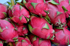 Fresh and raw dragon fruit Royalty Free Stock Images