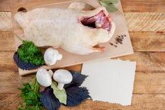 Fresh raw duck mushrooms Royalty Free Stock Photos