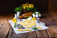 Raw Easter Cookies. A fresh Raw Easter Cookies Stock Photos