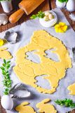 Raw Easter Cookies. A fresh Raw Easter Cookies Royalty Free Stock Images