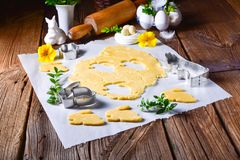 Raw Easter Cookies. A fresh Raw Easter Cookies Royalty Free Stock Image