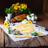 Raw Easter Cookies. A fresh Raw Easter Cookies Stock Image