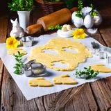 Raw Easter Cookies. A fresh Raw Easter Cookies Royalty Free Stock Photos
