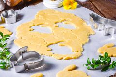 Raw Easter Cookies. A fresh Raw Easter Cookies Stock Images