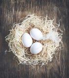 Fresh raw eggs. Stock Photos