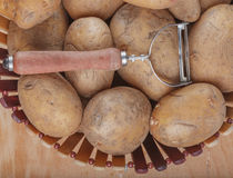 Fresh raw farm potatoes Royalty Free Stock Images