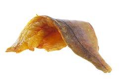 Fresh raw filet of smoked haddock. On white background Stock Images