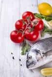 Fresh raw fish dorado Stock Photos