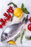 Fresh raw fish dorado Royalty Free Stock Image