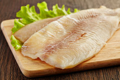 Fresh raw fish fillet Stock Images