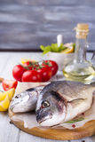 Fresh raw fish Stock Photography