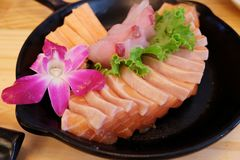 Fresh raw fish mixed sashimi. Japanese food fresh raw fish mixed sashimi Stock Images