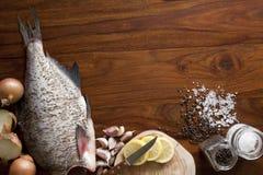 Fresh raw fish. On tray Stock Photo