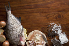 Fresh raw fish. On tray Royalty Free Stock Photography