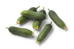 Fresh raw gherkins Royalty Free Stock Photography