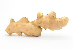 Fresh raw ginger on White background. Natural food Stock Images