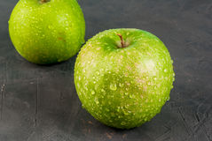 Fresh raw green apples Royalty Free Stock Image