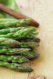 Fresh raw green asparagus. Spring vegetables Stock Photo