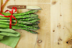 Fresh raw green asparagus. Spring vegetables Stock Photography
