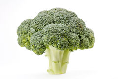 Fresh Raw Green Broccoli. On white Stock Photo