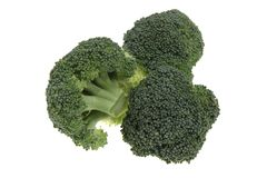 Fresh, Raw, Green Broccoli. Stock Photos
